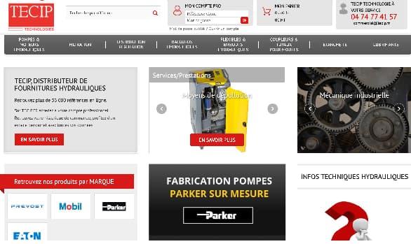 création site ecommerce BtoB avec connecteur ERP