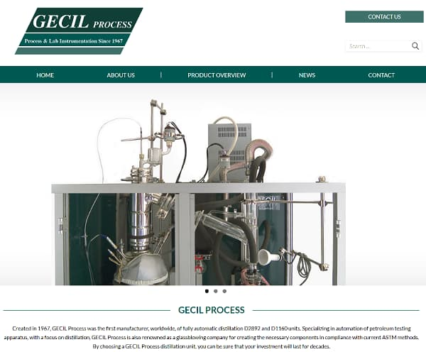 Site web Gecil Process