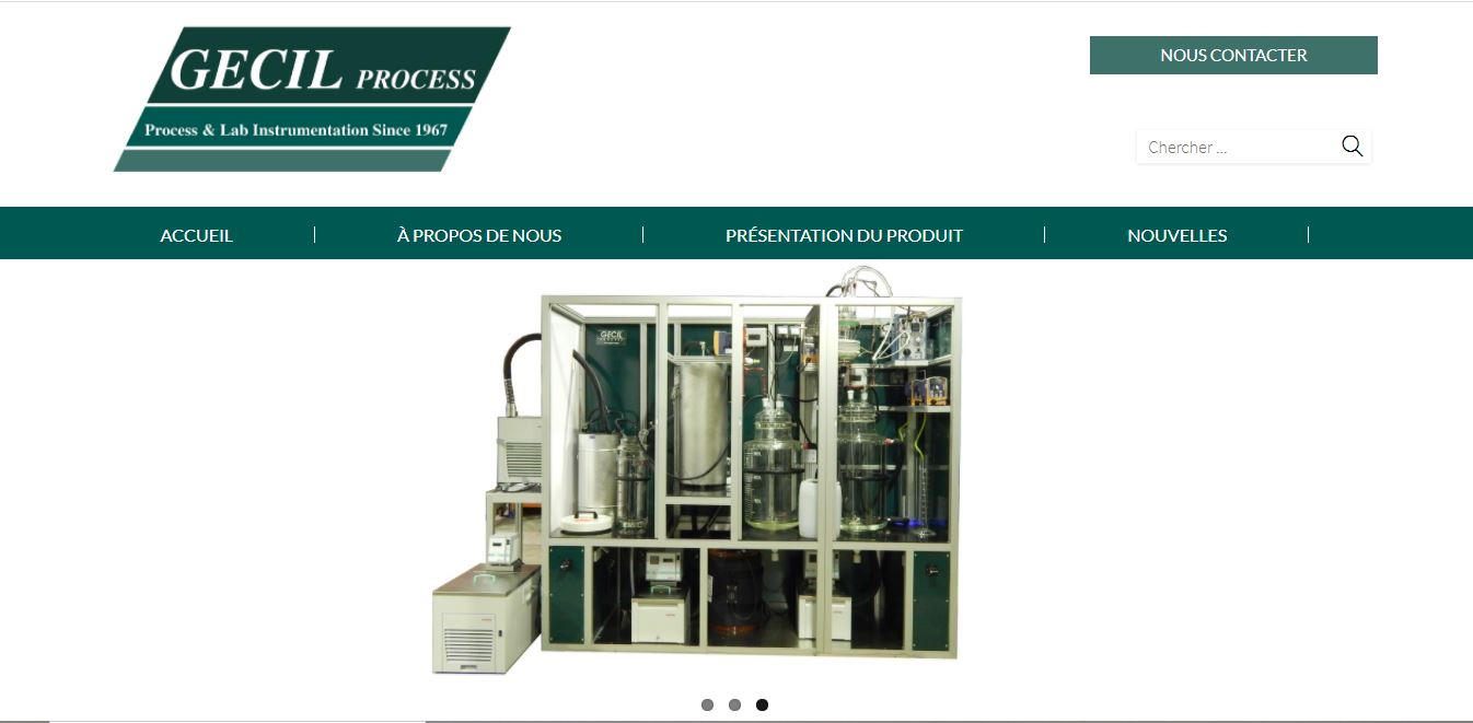 Site web Gecil Process